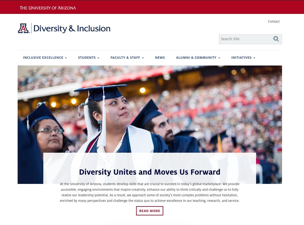 UA's Diversity website homepage