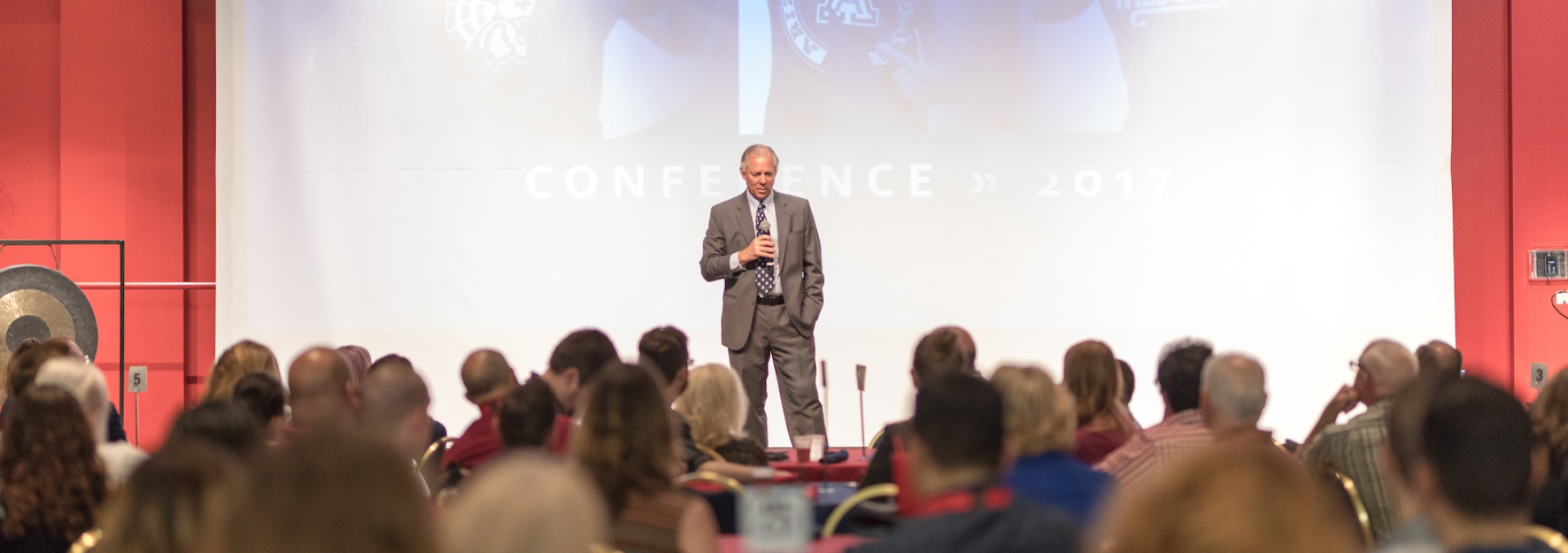 President Robbins speaking at the UA One Conference 2017